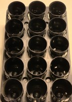 15 hole tray with 15 dome pots - 75x100mm