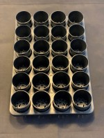 24 hole 60mm tray with 60x70mm pots