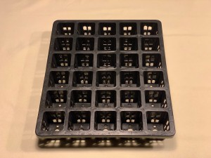 30 cell square hole tray