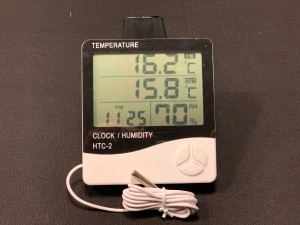 Digital Temp (min max) / Humidity Meter & Clock